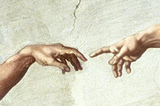 """Creation of Adam"" Sistine Chapel - detail"